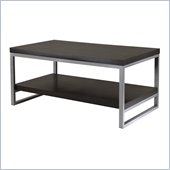 Winsome Jared Coffee Table with Enamel Steel Tube in Dark Espresso