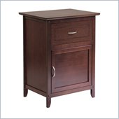 Winsome Accent Table with Door and Drawer in Antique Walnut Finish
