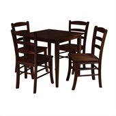Winsome Groveland 5 Piece Dining Set in Antique Walnut Finish