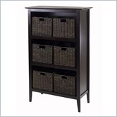 Winsome Toscana Storage Shelf with 6 Small Baskets in Espresso