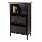 Winsome Toscana Storage shelf with 2 Large Baskets in Espresso
