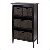 Winsome Toscana Storage Shelf with 4 Baskets in Espresso