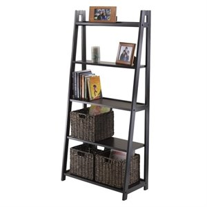 Winsome Adam 5-Tier A-Frame Shelf in Black
