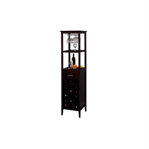 Winsome 18 Bottle Wine Tower in Espresso
