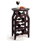 Winsome 8 Bottle Oval Top Wine Rack in Dark Espresso