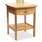 Winsome Basics Solid Wood End Table / Nightstand in Natural