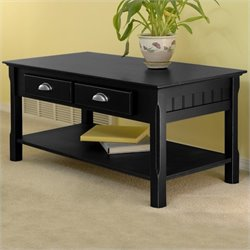 Winsome Timber Solid Wood Coffee Table in Black Best Price