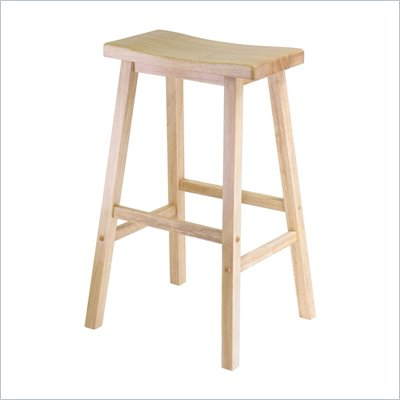 Winsome 29&quot; Saddle Bar Stool in Beech