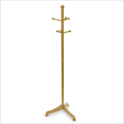 Winsome 71 Inch Standing Coat Rack in Beech Solid Wood
