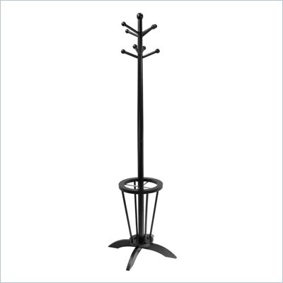 Winsome Espresso Standing Coat Rack and Umbrella Stand