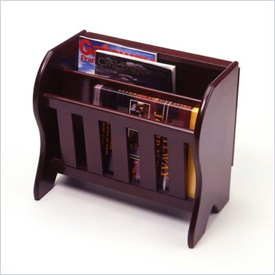 Winsome Magazine Rack with Flip Top in Espresso Beechwood