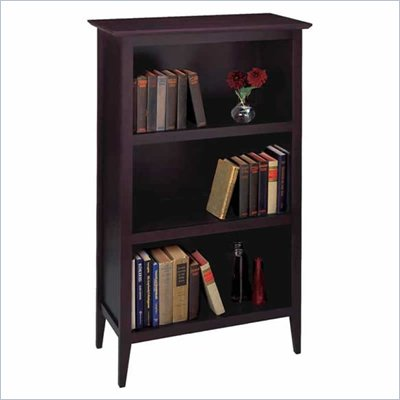 Winsome 3 Tier Bookcase in Espresso Beechwood