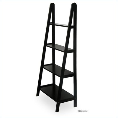 Winsome 4 Tier  A Frame Shelving Unit in Espresso Beechwood