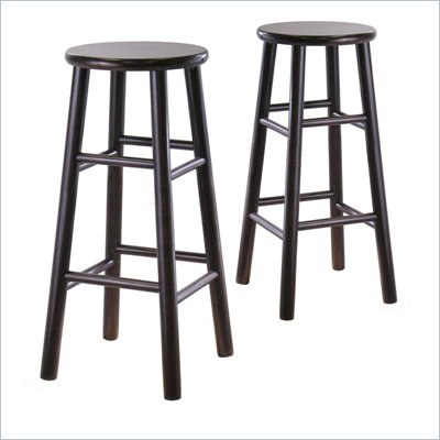Winsome 30&quot; Bar Stools in Espresso (Set of 2)