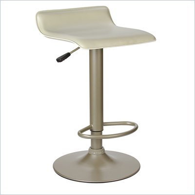 Winsome Height Adjustable Airlift Bar Stool in Beige