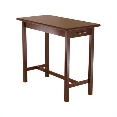Winsome Kitchen Island Table in Antique Walnut