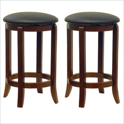Winsome 24&quot; Counter Height Swivel Bar Stools (Set of 2)