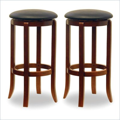 "Winsome 30"" Swivel Bar Stools in Walnut (Set of 2)"