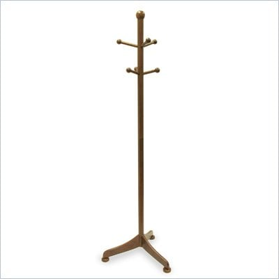 Winsome 6 Pegs Standing Coat Rack in Antique Walnut