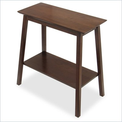 Winsome Hall Accent Table with Shelf in Antique Walnut