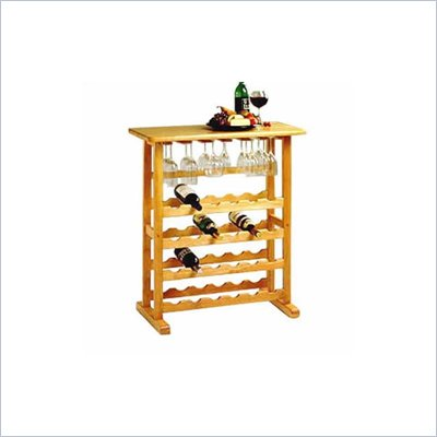 Winsome Basics 24-Bottle Wine Rack in Beech