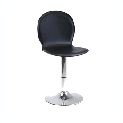 Winsome Darrel Faux Leather Swivel Chair in Black
