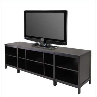 Winsome Hailey 3-Piece Modular Media Center in Espresso