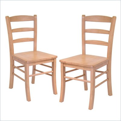 Winsome Hannah Dining Wood Side Chairs in Light Oak Finish (Set of 2)