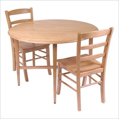 Winsome Hannah Casual 3 PC Dining Set in Light Oak