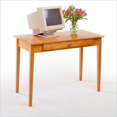 Winsome Metro Studio Solid Wood Computer Desk in Honey Pine