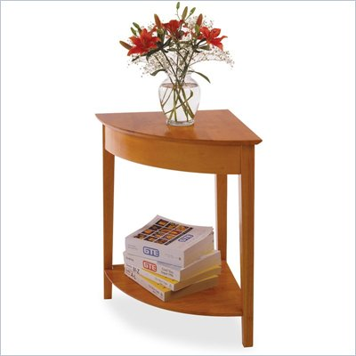 Winsome Solid Wood Corner Table in Honey