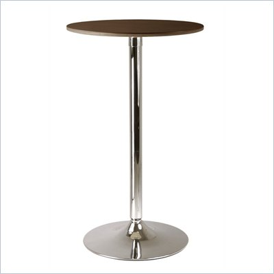 Winsome Kallie 24&quot; Round Pub Table in Cappuccino