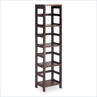 Winsome Leo 4-Section Tall Storage Shelf in Espresso