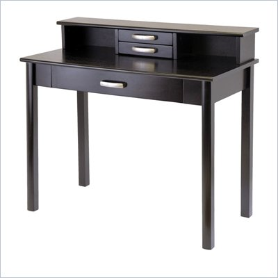Winsome Liso Computer Desk with Hutch in Dark Espresso