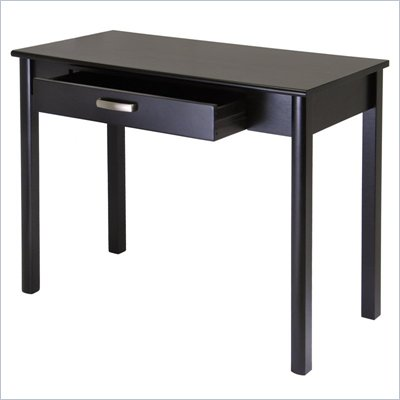 Winsome Liso Wood Writing Desk with Drawer  in Dark Espresso