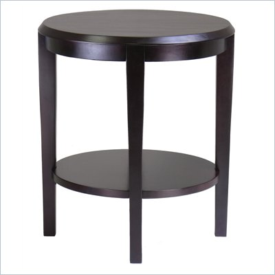 Winsome Nadia Round End Table in Dark Espresso Finish