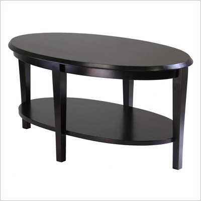 Winsome Nadia Oval Coffee Table in Dark Espresso Finish