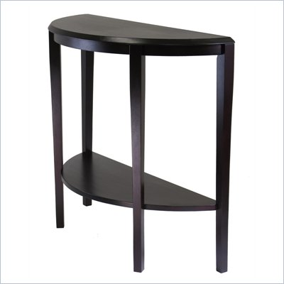 Winsome Nadia Console Table in Dark Espresso Finish