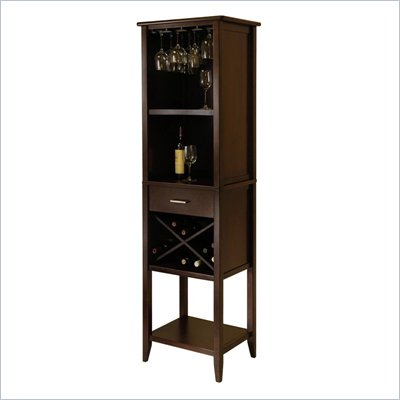 Winsome Palani Wine Tower in Cappuccino Finish