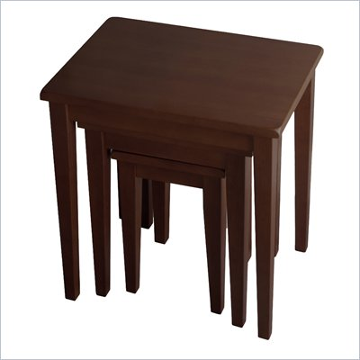 Winsome Regalia 3 Pc Solid Wood Side / Nesting Tables in Anitque Walnut