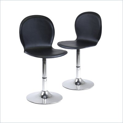 Winsome Spectrum Swivel Stools (Set of 2) 20&quot; Seat Height in Black/Metal