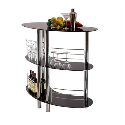 Winsome Martini Entertainment Bar in Black