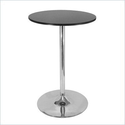 Winsome Spectrum 28&quot; Round Bar Height Pub Table in Black and Chrome