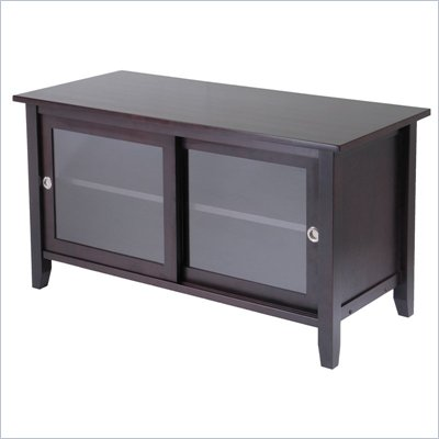 Winsome Solid Wood Media TV Stand in Espresso Finish