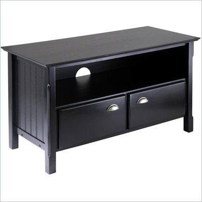 Winsome Timber Solid Wood Plasma/LCD TV Stand in Black
