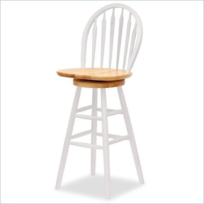 Winsome Windsor 30&quot; Swivel Bar Height Stool in White
