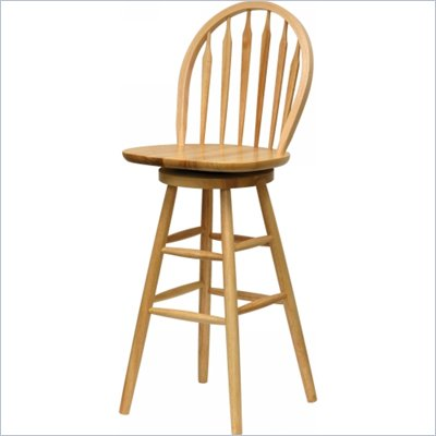 "Winsome Windsor 30"" Swivel Bar Stool in Natural"