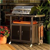 Outdoor GreatRoom Company Bistro 36 Granite Top/Glass Doors Cabinet