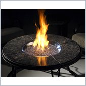 Outdoor GreatRoom Company 42 Inch Wood Burning Steel Firepit with Granite Top