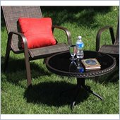 Outdoor GreatRoom Company Sun Lounger Side Table with Glass Top